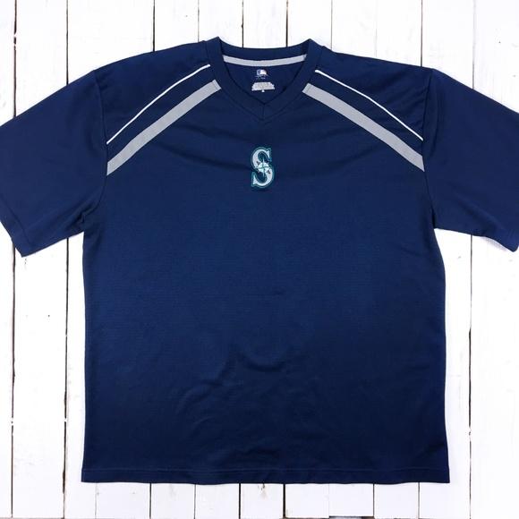 uk availability 751d3 9ec2d MLB Seattle Mariners v-neck jersey Sz XL